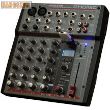 Phonic AM220P Keverőpult, 2 Monó/2 Sztereó csatorna, USB lejátszó