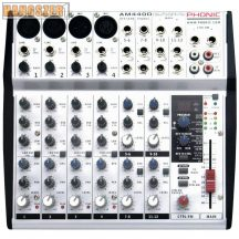 Phonic AM440D Keverőpult, 4 Monó/4 Sztereó csatorna, effekt