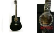 JOHNSON JAG-6200 C BLACK western gitár