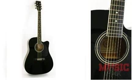 JOHNSON JAG-6200 C BLACK western gitár