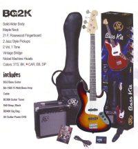 SX BG-2K elektromos basszus gitár szett
