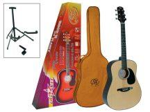 SX DG-1K NATÚR western gitár szett