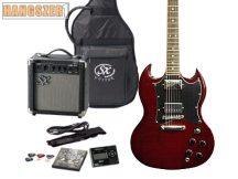 SX EG3K elektromos gitár szett