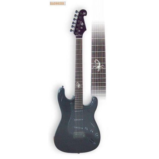 SX STRATO FEKETE SKORPIO PST-SC elektromos gitár