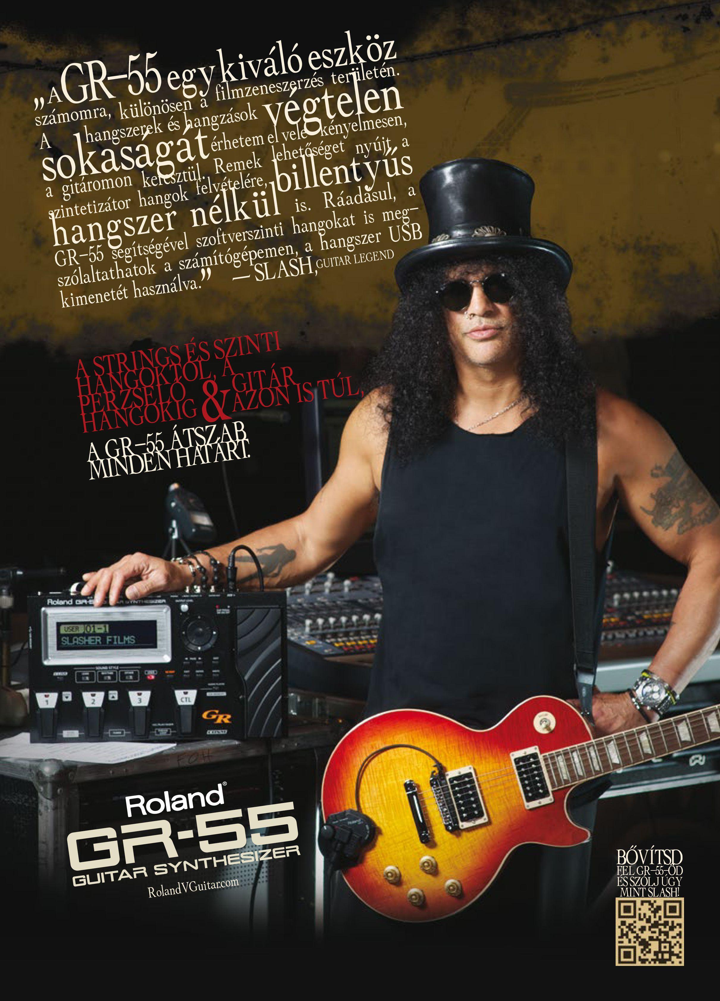 Slash és a Roland GR 55