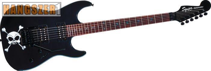 SQUIER SHOW MASTER SKULL fekete elektromos gitár