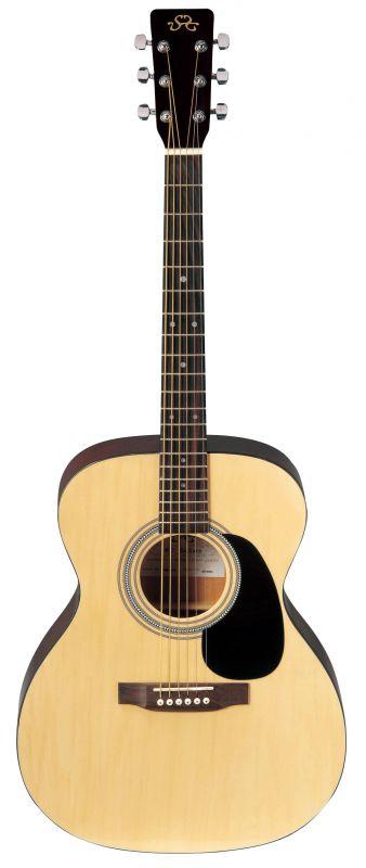 SX OM160 natúr western gitár