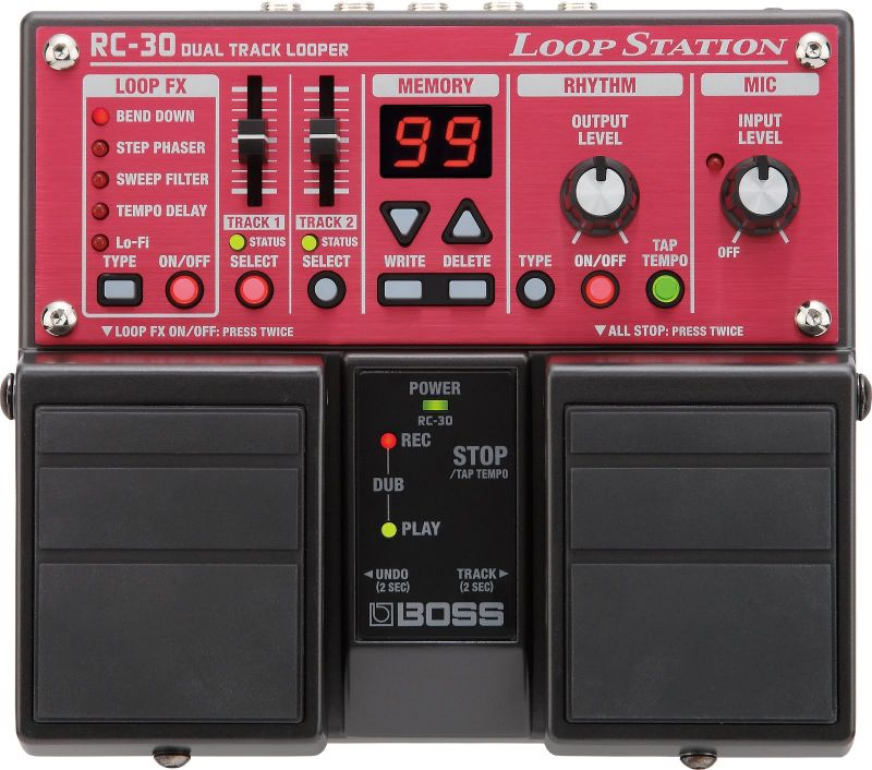 Boss RC-30 loop station pedál